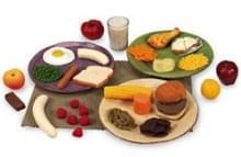 Sady potravinových replik