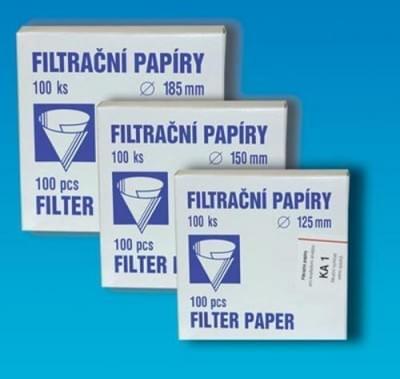 Papír filtr. kvalitativní, kruh. výsek, Typ KA 1, průměr 125 mm