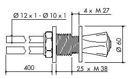 TOF 2000/120 - Laboratorní plynový kohout pro DG