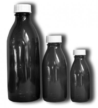 Láhev úzkohrdlá se závitem - lékovka, hnědá, na uzávěr PP 28