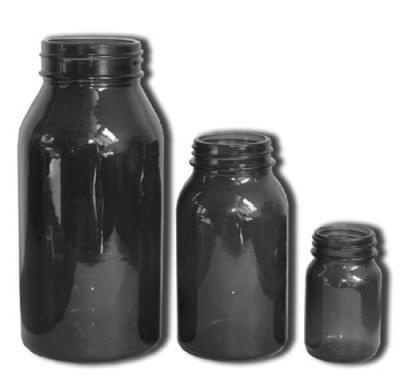 Láhev širokohrdlá se závitem - tabletovka, hnědá, na uzávěr GL 50
