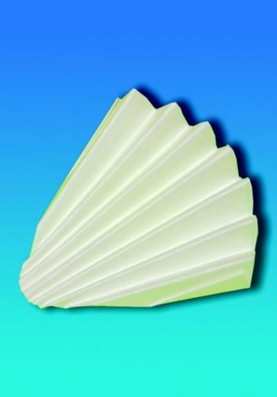 Filtrační papír pro kvalitativní analýzu - kruhové výseky skládané, typ 1292, průměr 150 mm