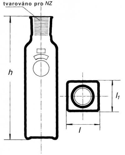 Láhev kultivační dle Blacka s NZ, 200 ml