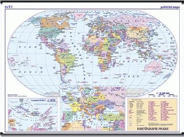 Svět - nástěnná politická mapa