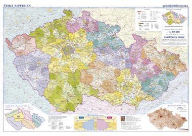 Česká republika - nástěnná administrativní mapa