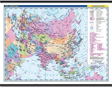 Asie - nástěnná politická mapa