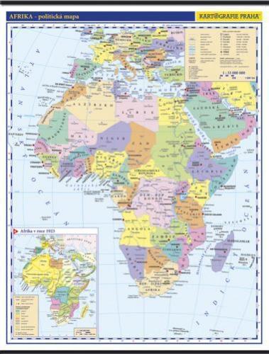 Afrika - nástěnná politická mapa