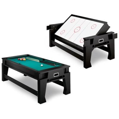 Kulečník a vzdušný hokej - hrací stůl s otočnou deskou 2v1