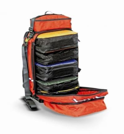 R-aid - víceúčelový záchranářský batoh, červená/černá