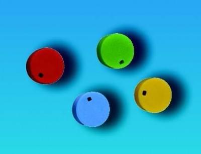 Barevné rozlišovače na uzávěry, PP, modré