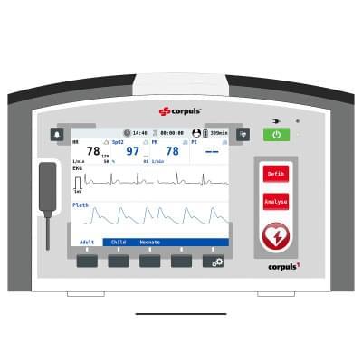8000966 - Simulátor obrazovky pacientského monitoru corpuls1 pro REALITi360
