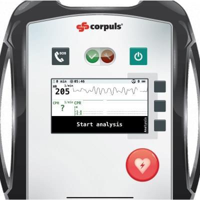 8000968 - Simulátor obrazovky defibrilátoru corpuls® AED pro REALITi360
