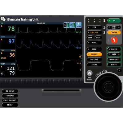 8000971 - Simulátor obrazovky pacientského monitoru LIFEPAK® 15 pro REALITi360