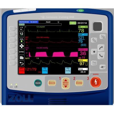 8000980 - Simulátor obrazovky pacientského monitoru Zoll® X Series® pro REALITi360