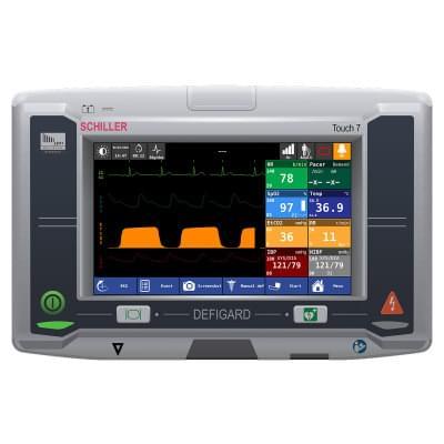 8001000 - Simulátor obrazovky pacientského monitoru Schiller DEFIGARD Touch 7 pro REALITi360