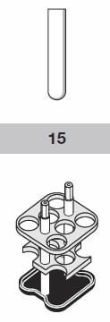 Adapter 15 ml, průměr 17,5mm 24 zkumavek na rotor
