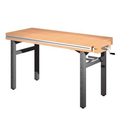 Dílenský stůl 1 500 × 650 × 850 - pevná výška, 1x svěrák truhlářský