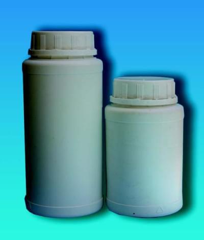 Láhev na chemikálie, širokohrdlá, včetně pojistného uzávěru, bílá, 1 300 ml