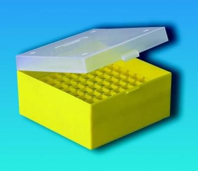 Kryobox s mřížkou, PP, pro 3 - 5 ml zkumavky, průhledná