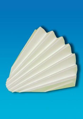 Kruhové výseky z filtračního papíru, skládané