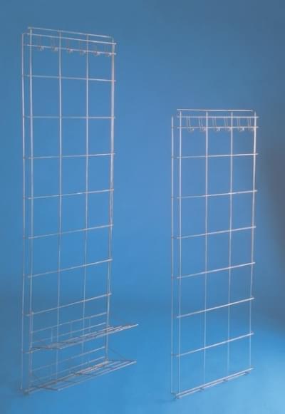 Úložná nerezová stěna s háčky na oděv 140 × 50 cm