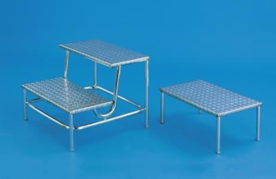 Dvojschůdek s nerezovými stupni, výška 2 × 20 cm, stacionární