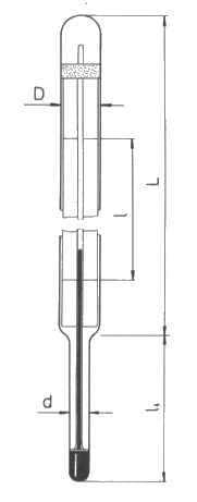 Technický teploměr - typ 240, úhlový