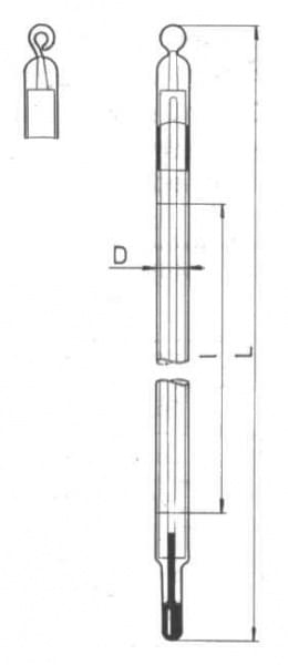 Teploměr obalový pro všeobecné použití