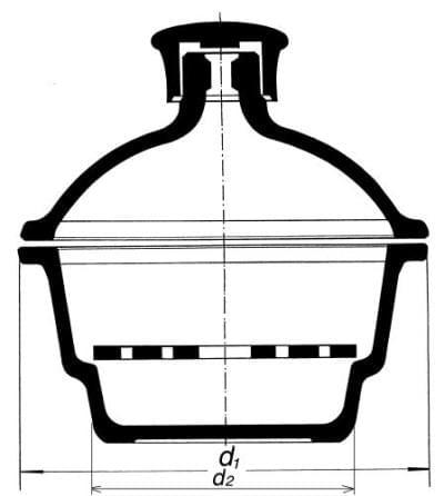 Exsikátor s plastovým hmatníkem - s porcelánovou deskou