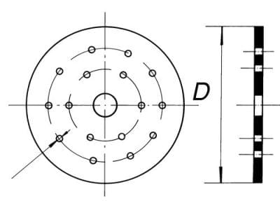 Deska do exsikátoru, 290 mm
