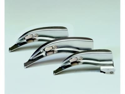 Laryngoskop McINTOSH sada se třemi lžícemi  velikosti 0,1,2