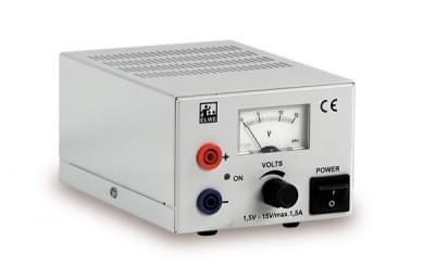 DC Napájecí zdroj 1,5 – 15 V, 1,5 A (230 V, 50 / 60 Hz)