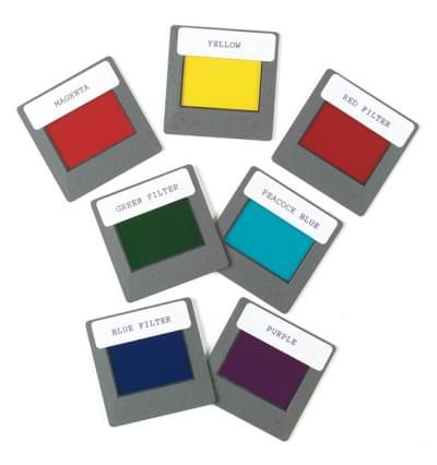 Sada sedmi barevných filtrů