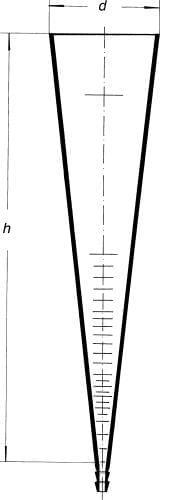 Válec sedimentační podle Imhoffa, 1000 ml