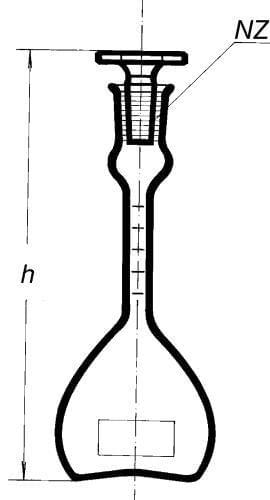 Pyknometr podle Reischauera s ryskou a nálevkou, 50 ml