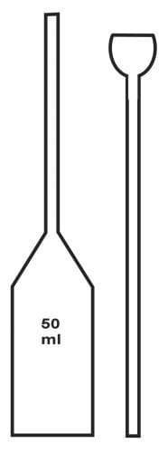 Pyknometr pivovarnický - bez zátky, bez nálevky, 50 ml