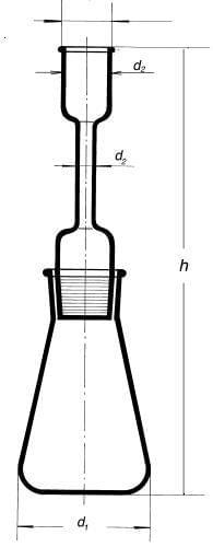 Pyknometr silniční s nástavcem a nálevkou, 500 ml