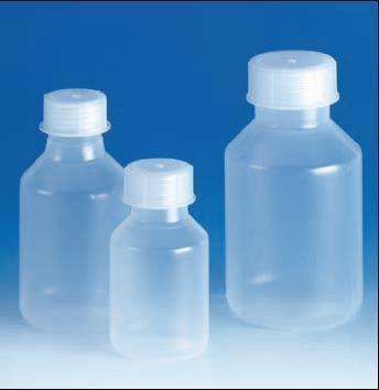 Láhev reagenční, šroubovací uzávěr, širokohrdlá, PP, objem 250 ml