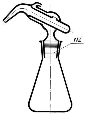 Pipeta sklopná – špaček kompletní (vč. Erlen. baňky)