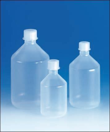 Láhev reagenční, šroubovací uzávěr, úzkohrdlá, PP, 2 000 ml