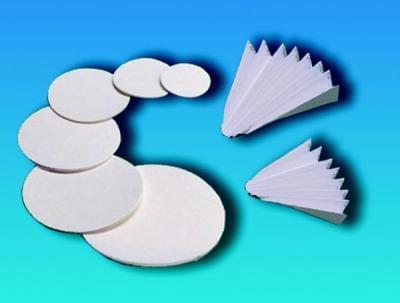 Kvalitativní filtrační papír - kruhový výsek zpev. za mokra, Typ 1291, průměr 70 mm