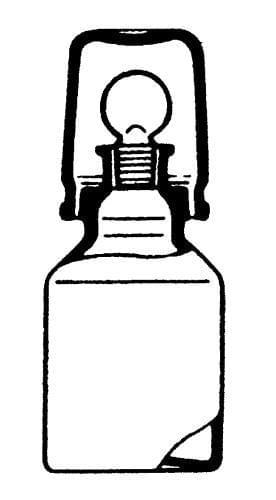 Láhev na kyseliny, čirá