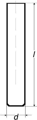 Zkumavka SIMAX s rovným dnem a rovným okrajem