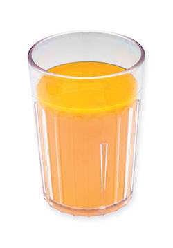 Pomerančový džus v malé sklenici