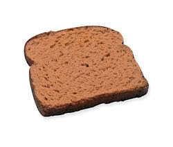 Krajíc pšeničného chleba