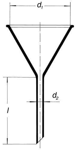 Nálevka s krátkým stonkem, úhel 60°, průměr 150 mm