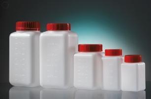 Láhev čtyřhranná, aseptická, HDPE, 250 ml