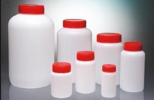 Láhev kulatá, aseptická, HDPE, 1 000 ml