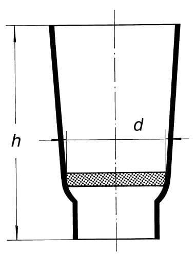 Kelímek filtrační kuželového tvaru, pórovitost S 1
