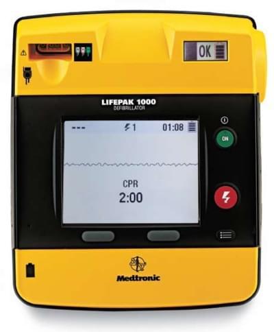 LIFEPAK 1000 se zobrazením EKG - kompletní sestava